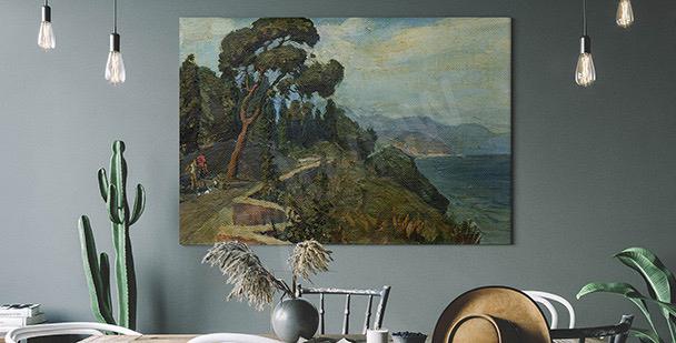 Bild Landschaft und Kirschbaum