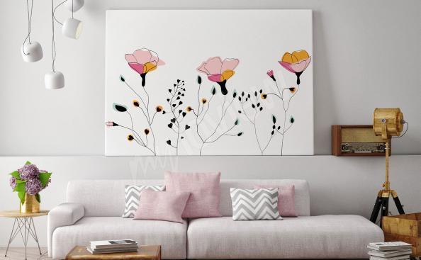 Bild im skandinavischen Stil - Blumen