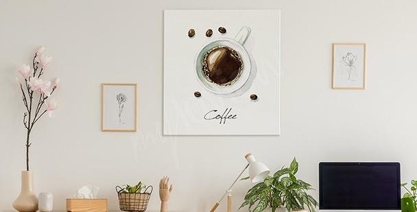 Bild Kaffeetasse schwarz-weiß