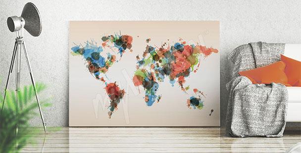Bild Karte Farbenflecke
