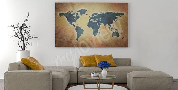 Bild Karte fürs Wohnzimmer