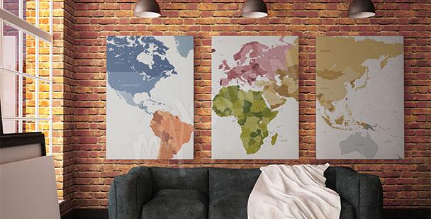 Bild Karte Triptychon