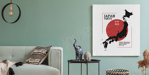 Bild Karte von Japan