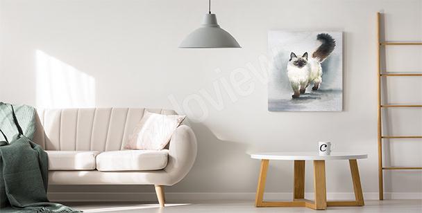 Bild Katze fürs Wohnzimmer