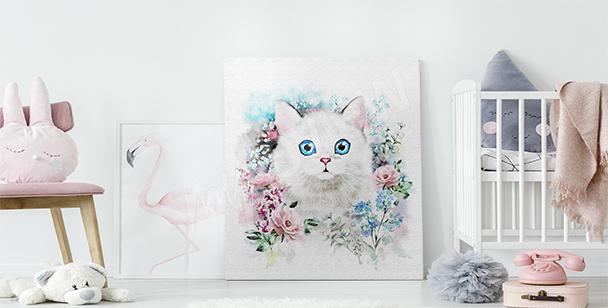 Bild Katze in Rosatönen