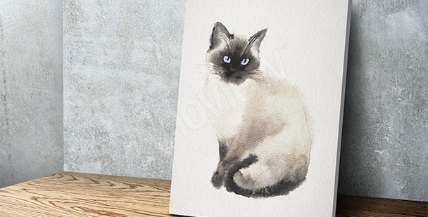 Bild Katze Malerei