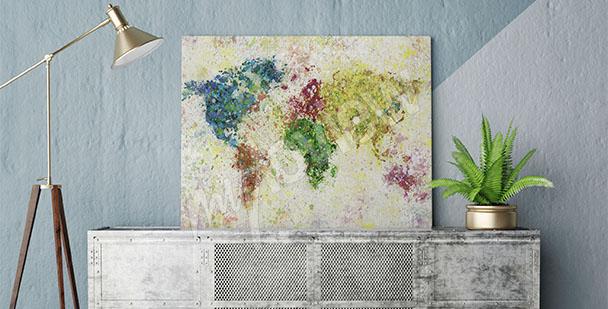 Bild Kontinenten Karte