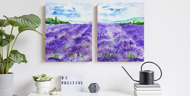 Bild Äste mit Lavendel