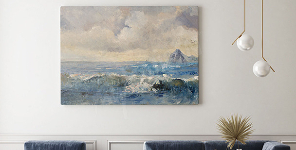Bild Landschaft im Ölstil