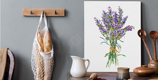 Diptychon Lavendelfeld