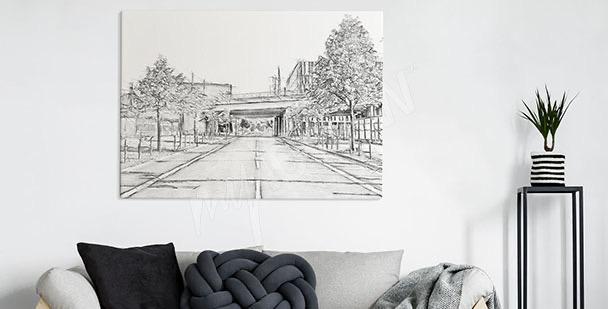 Bild leere Straße