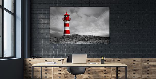 Bild Leuchtturm mit Streifenmuster