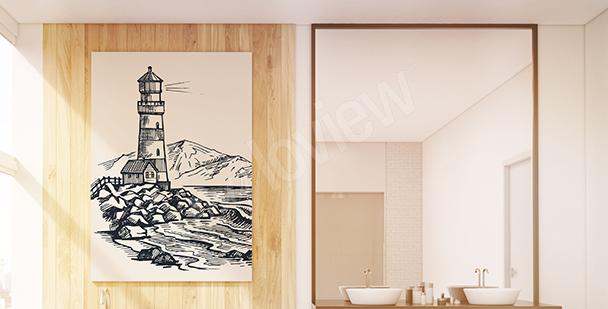 Bild Leuchtturm Skizze