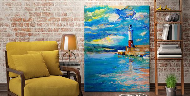 Bild Leuchtturms im Hafen