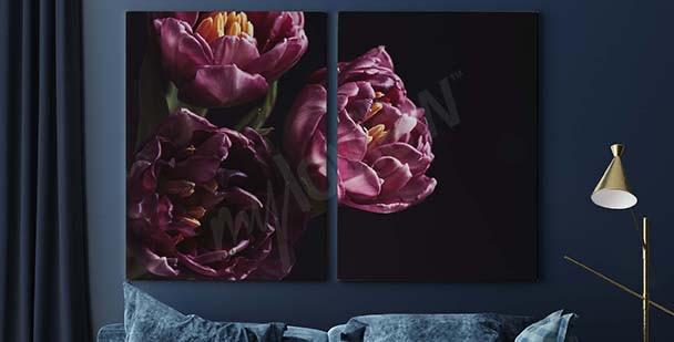 Bild lila Blumenstrauß