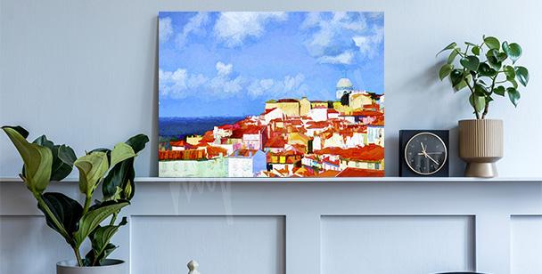 Bild Lissabon in Malerei