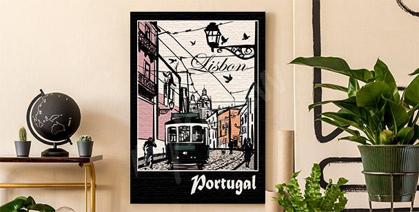 Bild Lissabon und Straßenbahn