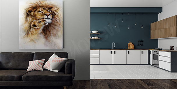 Bild Löwe in natürlicher Umgebung