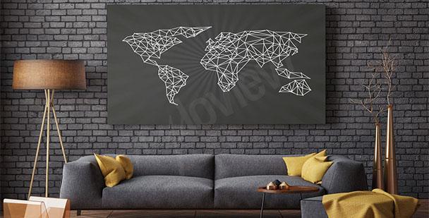 Bild minimalistische Karte