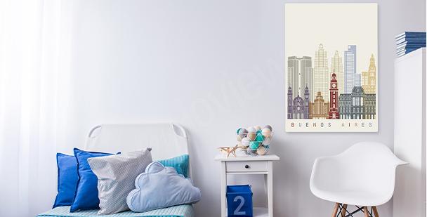 Bild Stadt fürs Wohnzimmer
