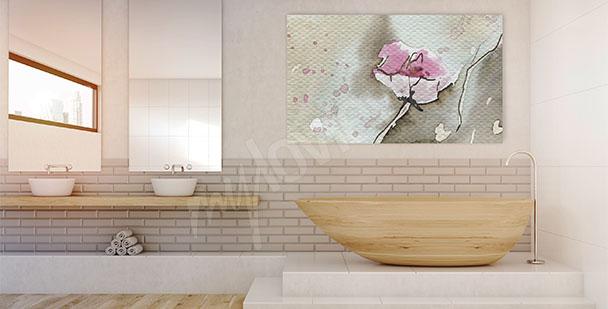 Bild mit abstrakter Blume