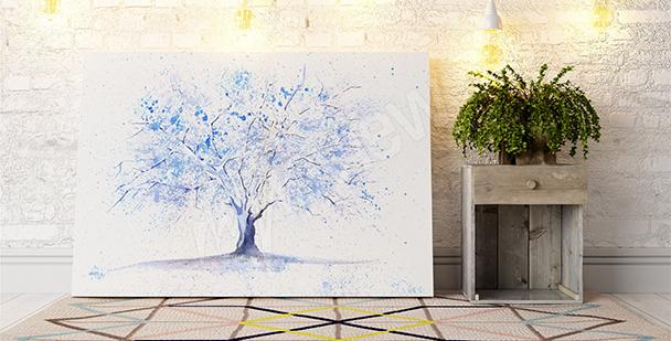 Bild mit Baum in einer Winterszenerie