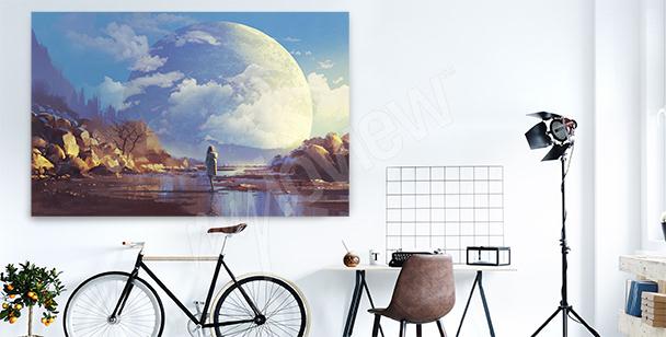 Bild mit dem Mond