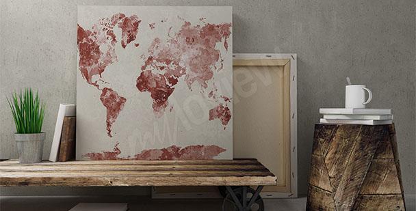 Bild mit der Weltkarte