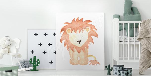 Bild mit einem Löwenjungen