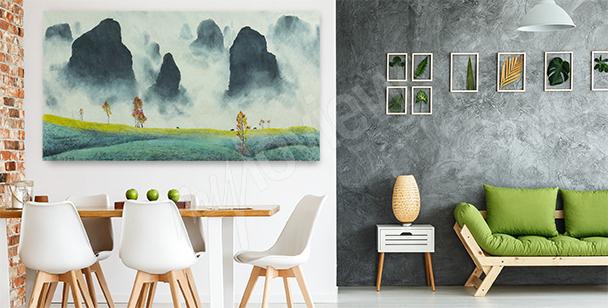 Bild mit einer chinesischen Landschaft