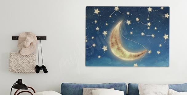 Bild mit erleuchtetem Mond