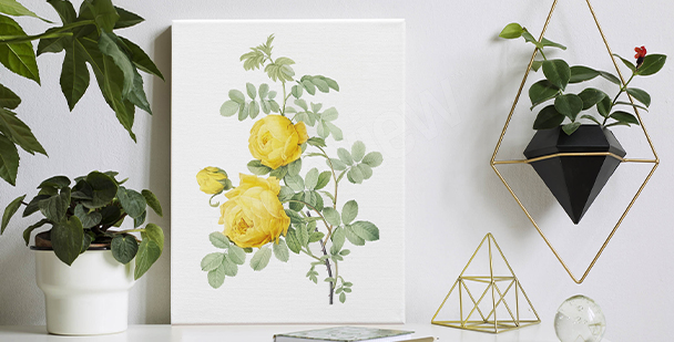 Bild mit floralem Akzent