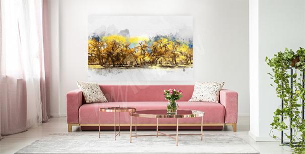 Bild mit gelben Blättern