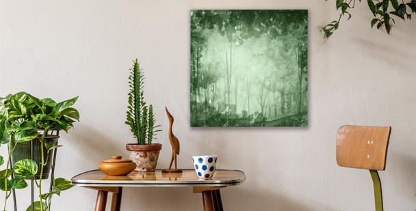 Bild mit grünem Hain