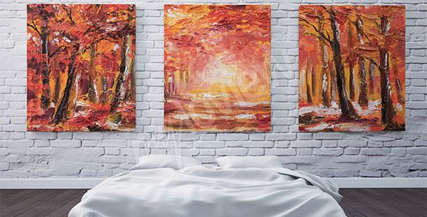 Bild mit Herbstbäumen