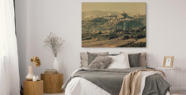 Bild mit italienischer Landschaft