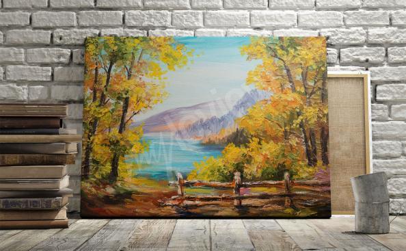 Bild mit Landschaft - Wald