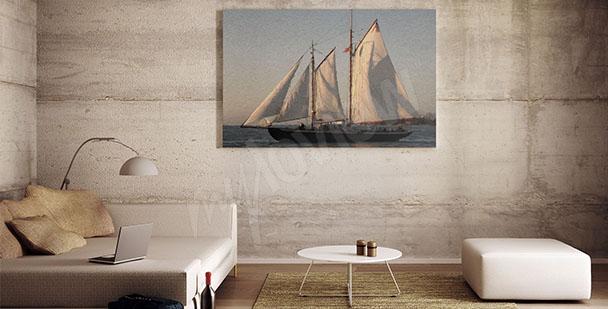 Bild mit Segelschiff