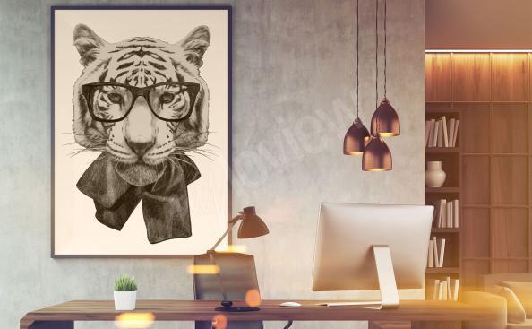 Bild mit Tiger für Jugendzimmer