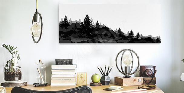 Bild mit Wald fürs Büro