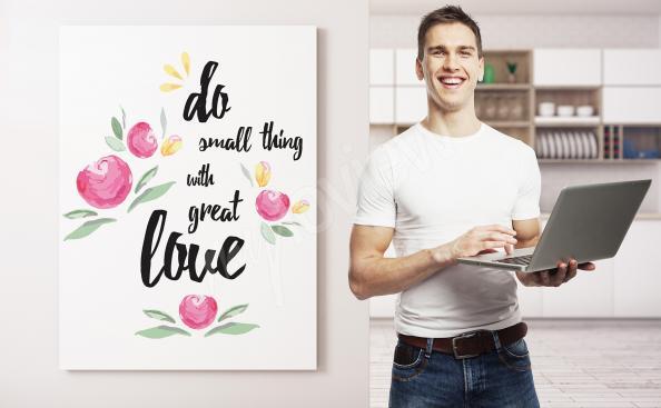 Bild mit Zitat für Wohnzimmer