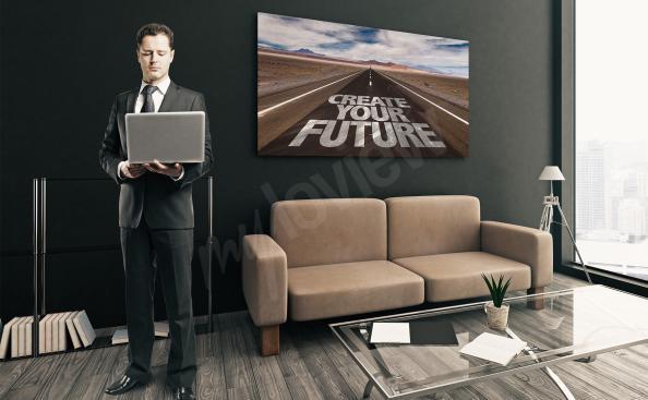 Bild mit Zitat: Zukunft