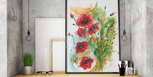 Bild Mohnblumen für Wohnzimmer