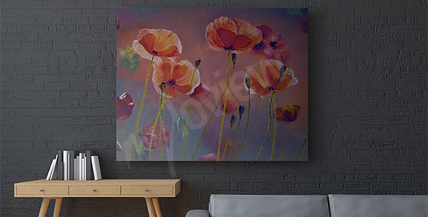 Bild Mohnblumen Malerei