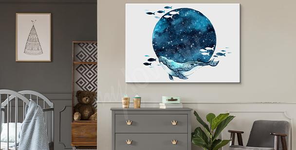 Bild Mond im Galaxy-Stil