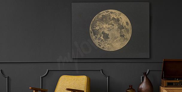 Bild Mond im Retrostil