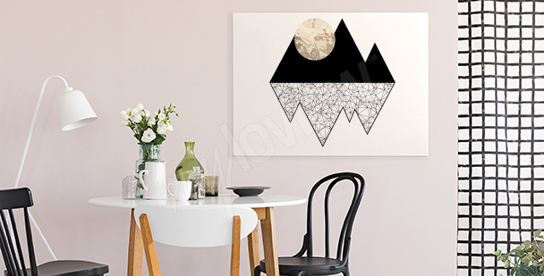 Bild Mond in den Bergen