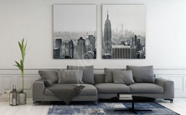 Bild New York Schwarz-weiss