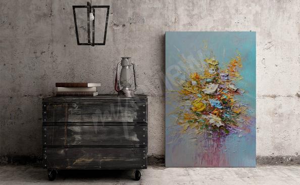 Bild Ölmalerei Blumen