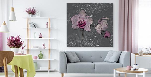 Bild Orchidee auf grauem Hintergrund